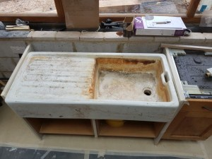 belfast sink before re enamelling