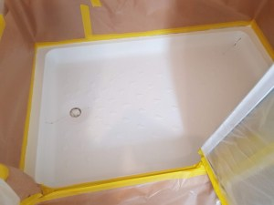 shower tray repair before