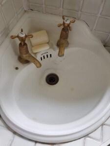 antique corner sink restoration