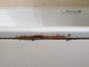 bath rust repair before